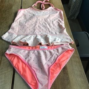 Old Navy 2 Piece Pink Tankini Swimsuit